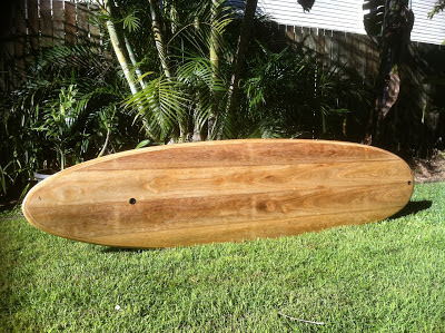 hollow wood surfboard