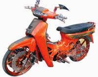 foto modifikasi motor honda kirana tampil unik