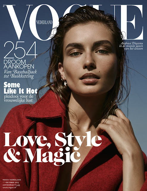 Fashion Model @ Andreea Diaconu for Vogue Netherlands, October 2015