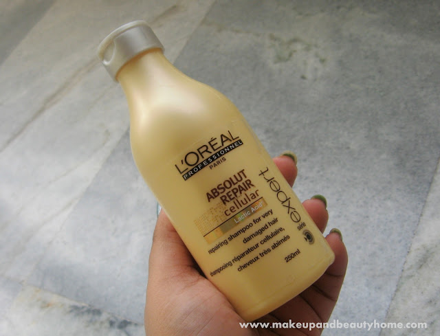L'Oreal Paris Absolute Repair Cellular Shampoo Review - Makeup And Beauty Home
