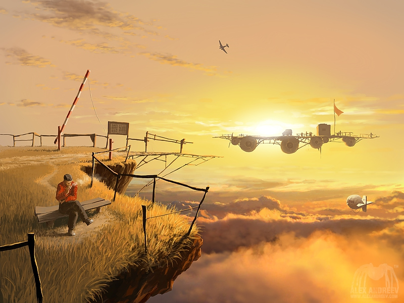 09-Crossing-Alex-Andreev-Surreal-Worlds-of-Trailing-Gardens-Illustrations