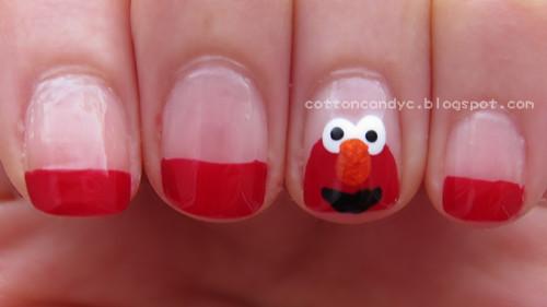 Cotton Candy Blog Elmo Nail Art Tutorial Video