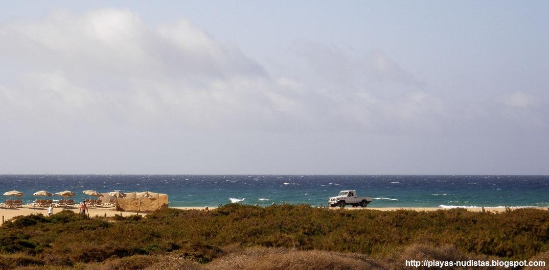 Playa nudista El Matorral - Morro Jable (Fuerteventura, Canarias, España)