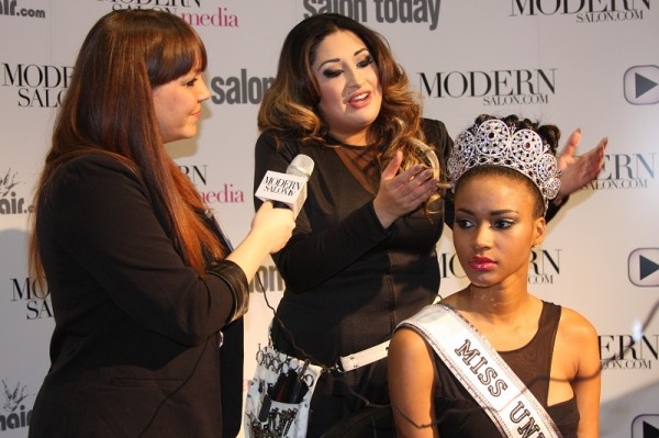 Miss Universe 2011 Leila Lopes guest America's Beauty Show