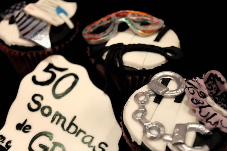 CUPCAKES 50 SOMBRAS DE GREY