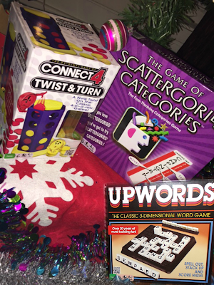 Winning Moves Games: Connect 4 Twist & Turn, Scattergories Categories, & Upwords