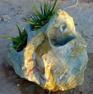 fuente cascada de piedra natural marmol
