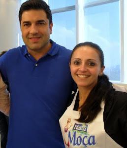 Edu Guedes e Eu na cozinha experimental da Nestlé!!