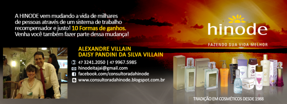 Consultora da Hinode - Seja uma Consultora de Perfumes, Cosméticos e Bem Estar