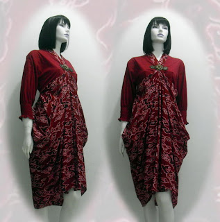 dress batik wanita