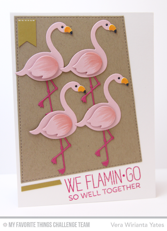 Flamingo Well Together by Vera Wirianta Yates featuring the Laina Lamb Designs Tickled Pink stamp set and Flamingos Die-namics