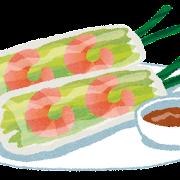 生春巻きのイラスト(エスニック料理)