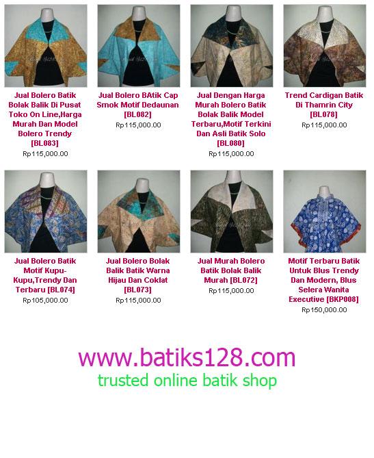 Beli Bolero batik Online murah