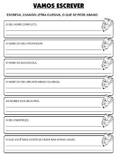 ATIVIDADES DE PORTUGUÊS 3° ANO GRAMÁTICA I