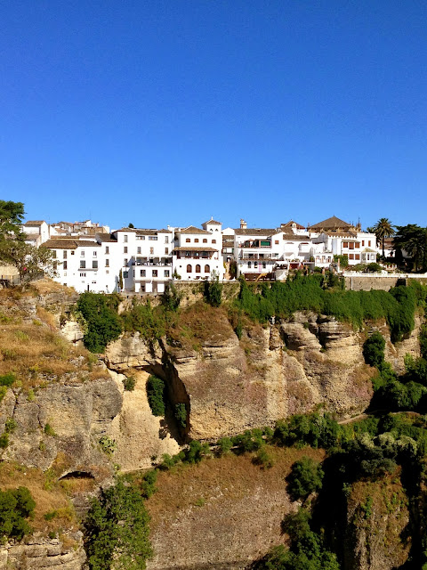 White buildings in Ronda on Semi-Charmed Kind of Life