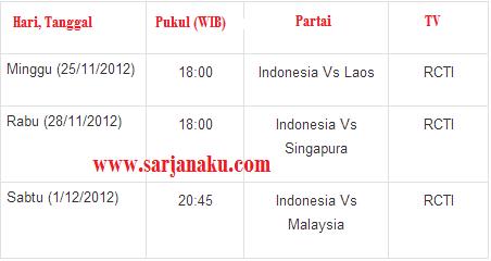 Jadwal Siaran Langsung Piala AFF 2012