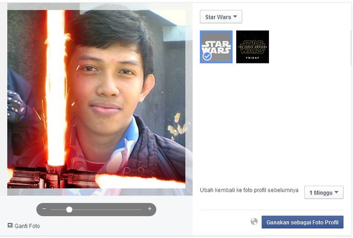 Star Wars: The Force Awakens Facebook photo profile