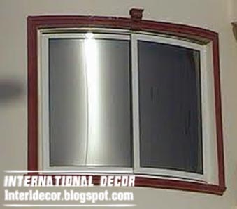 curved aluminum window frame for round wall system interior