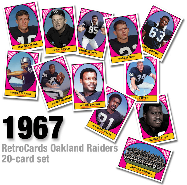 George Blanda, Willie Brown, Eugene Upshaw, Pete Banaszak, Tom Keating, Gus Otto, J.R. Williamson, Dan Birdwell, Bill Miller, Warren Wells, Jim Harvey, Rodger Bird, Bill Laskey, Howie Williams, Richard Sligh, John Rauch, Carlton Oats, Ken Herlock, Warren Powers