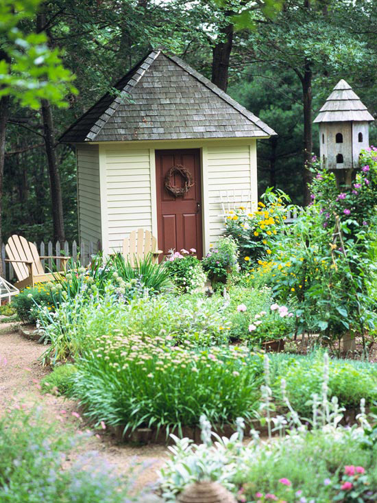 Sixpence blue moon garden sheds for Pretty garden sheds
