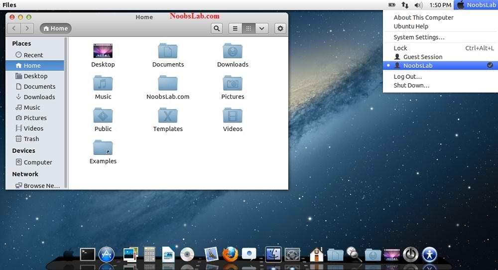 Mac OS X Theme for Ubuntu 13.04 Raring Ringtail/12.10/12.04/Linux ...