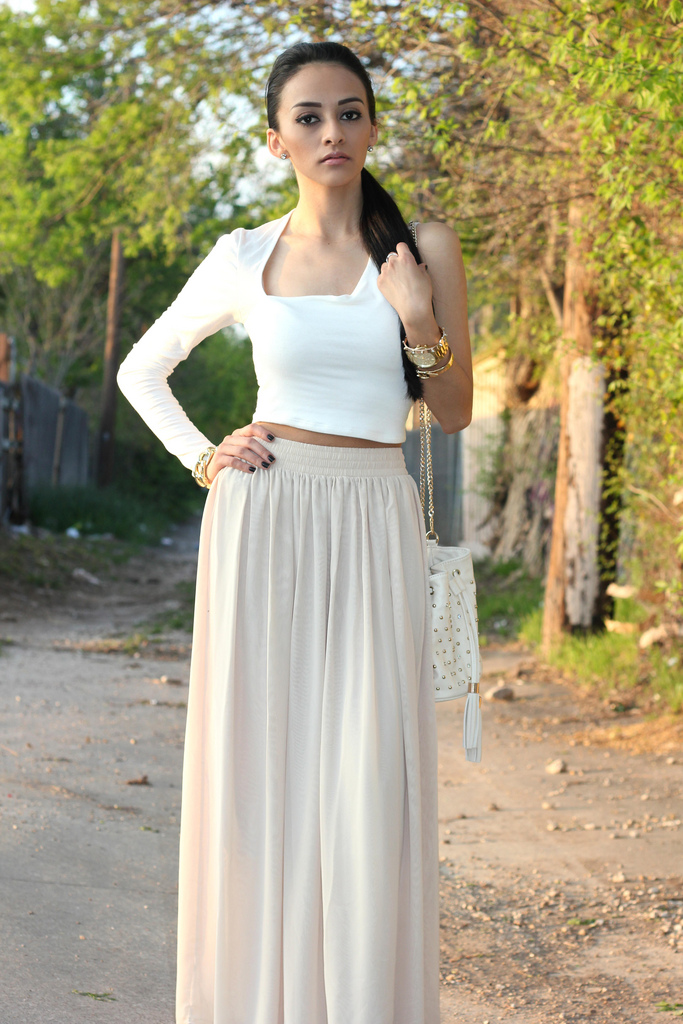 maytedoll crop top and maxi skirt