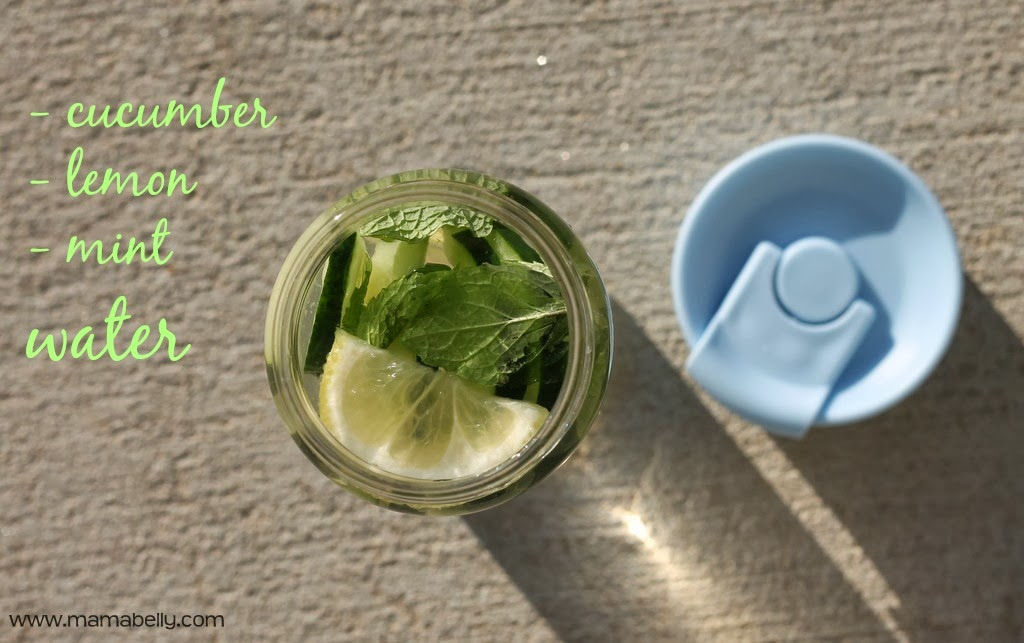 PURE glass water bottle review {cucumber lemon water recipe} - mamabelly.com