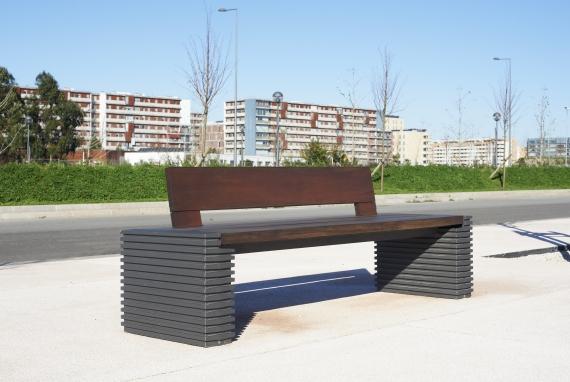 banco de jardim lisboa : banco de jardim lisboa:Mobiliário de Daciano da Costa instalado na Alta de Lisboa pela Larus
