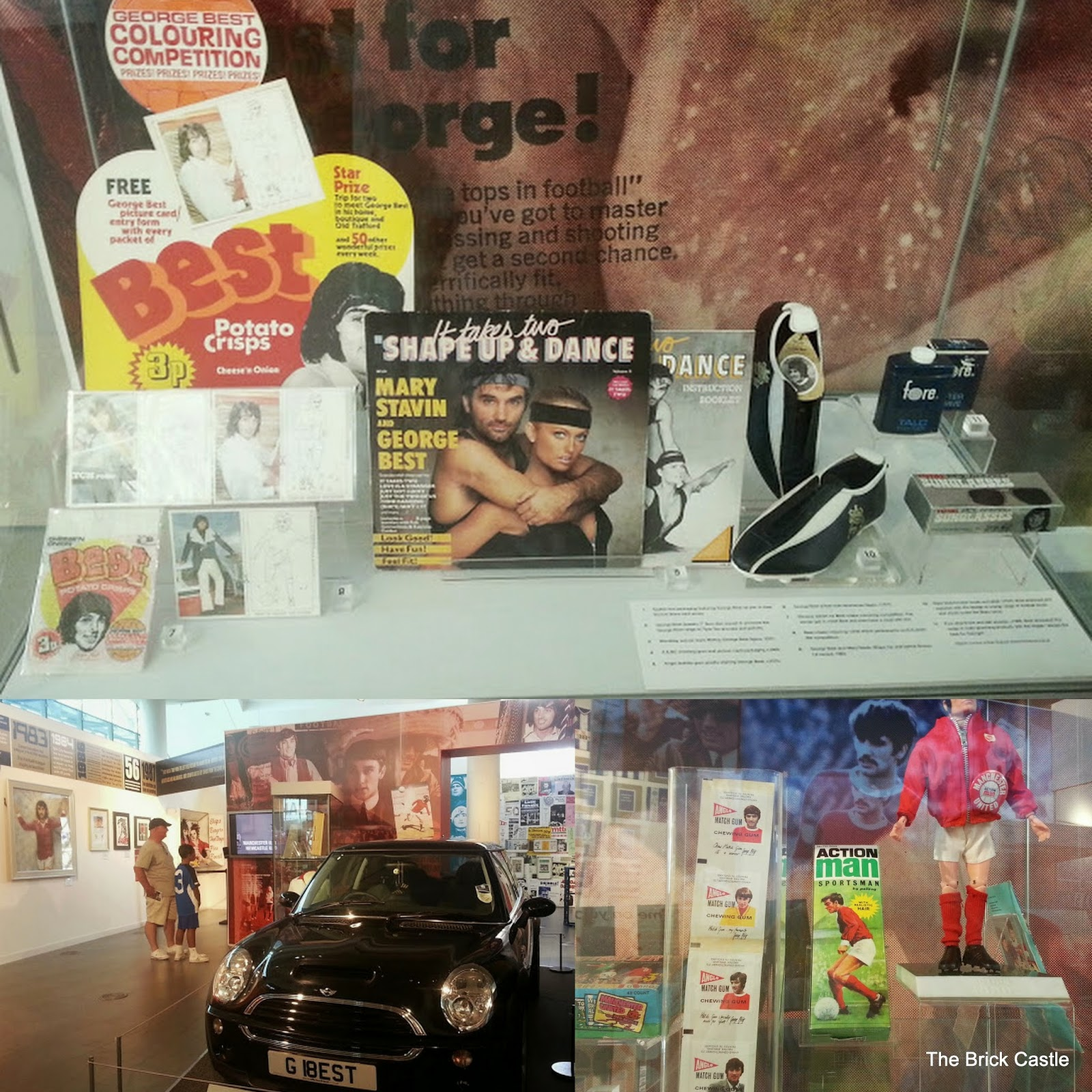 The National Football Museum at Urbis, Manchester George Best 1960's Manchester United player memorabilia and car