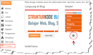 cara mengaktifkan template seluler pada blog