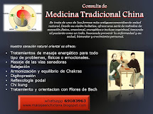 MEDICINA TRADICIONAL CHINA, TERAPIAS NATURALES Y MASAJES