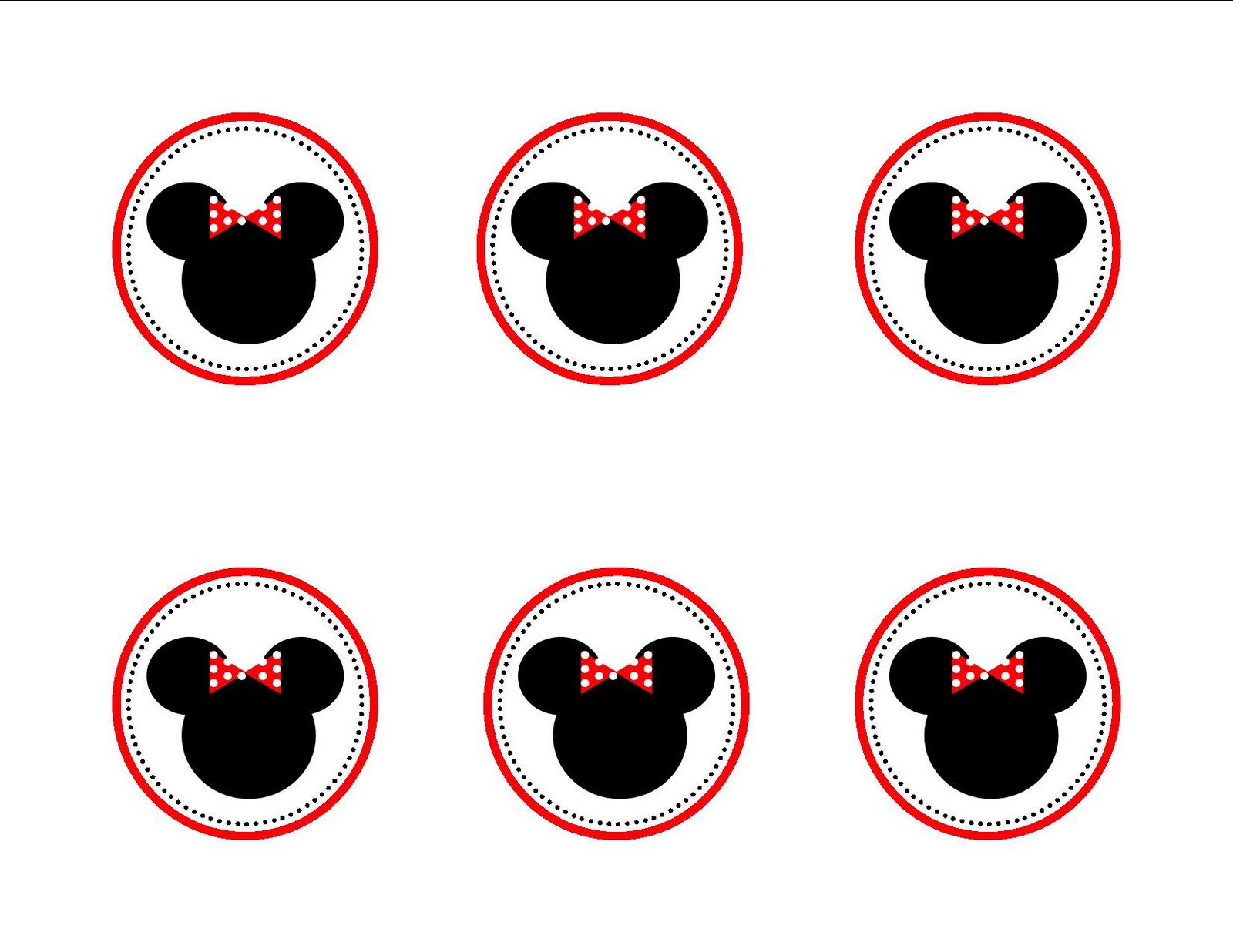 Minnie Mouse Cupcake Topper