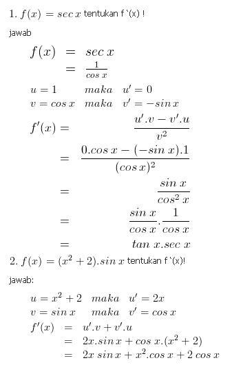 contoh soal fungsi trigonometri