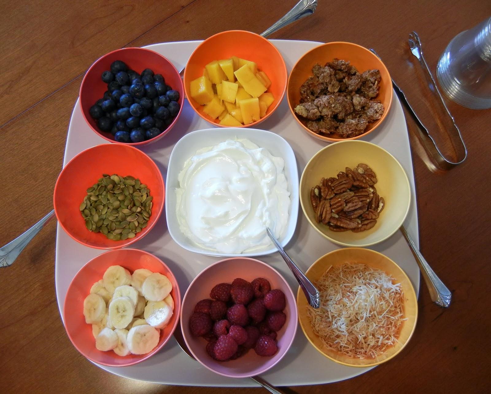 Build+your+own+healthy+yogurt+bar+brunch Weight Loss Recipes Build Your Own Yogurt Parfait Bar