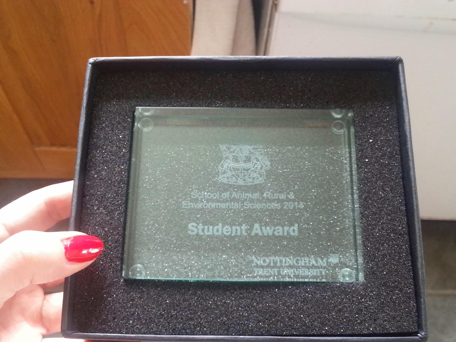 Graduation Nottingham Trent University Student Award