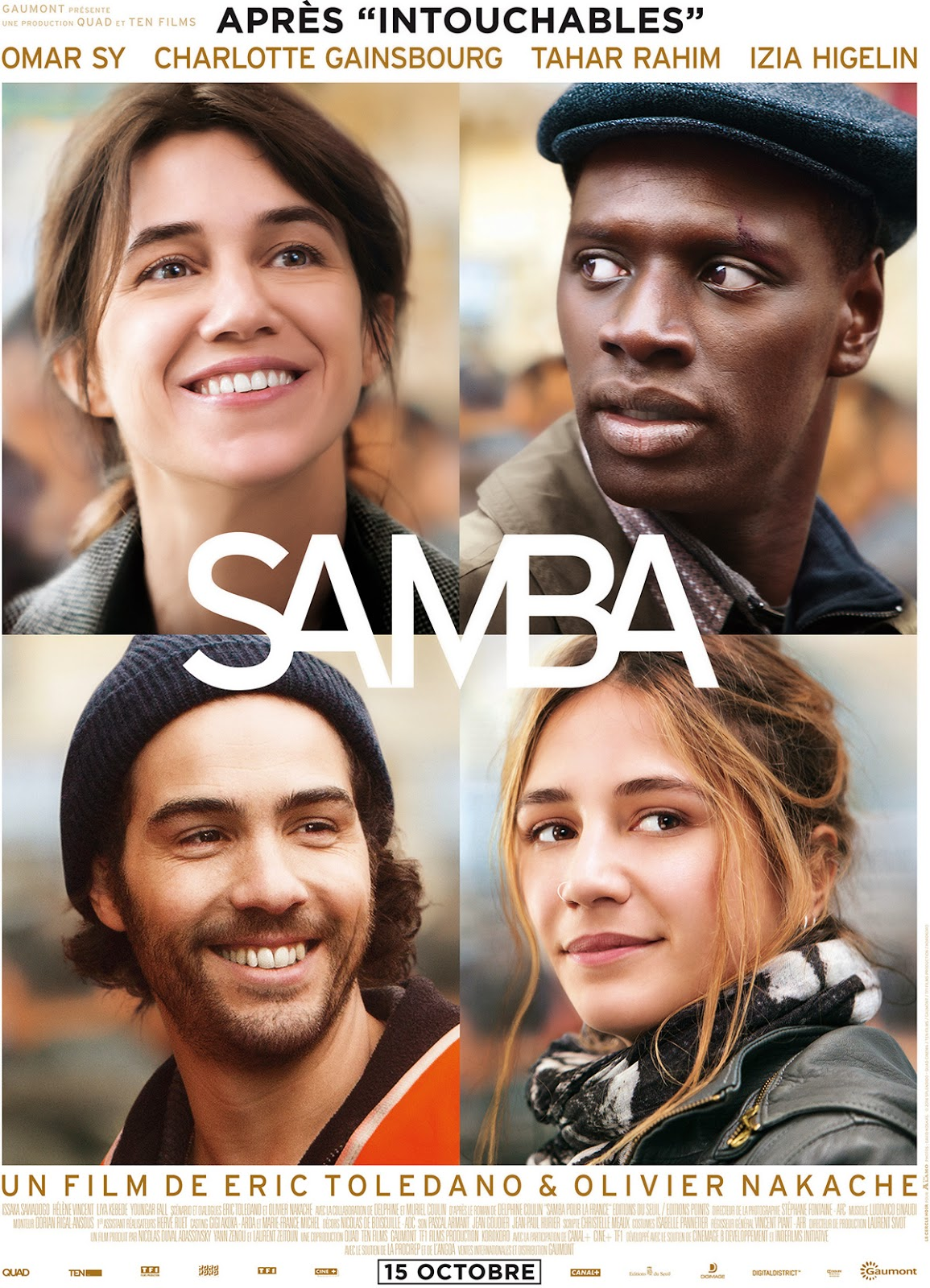 Affiche du film Samba. Source: allocine.fr