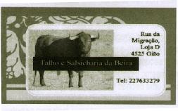 TALHO E SALSICHARIA DA BEIRA