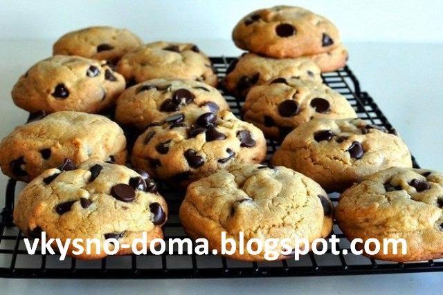 Печенье с шоколадными кусочками - просто и вкусно