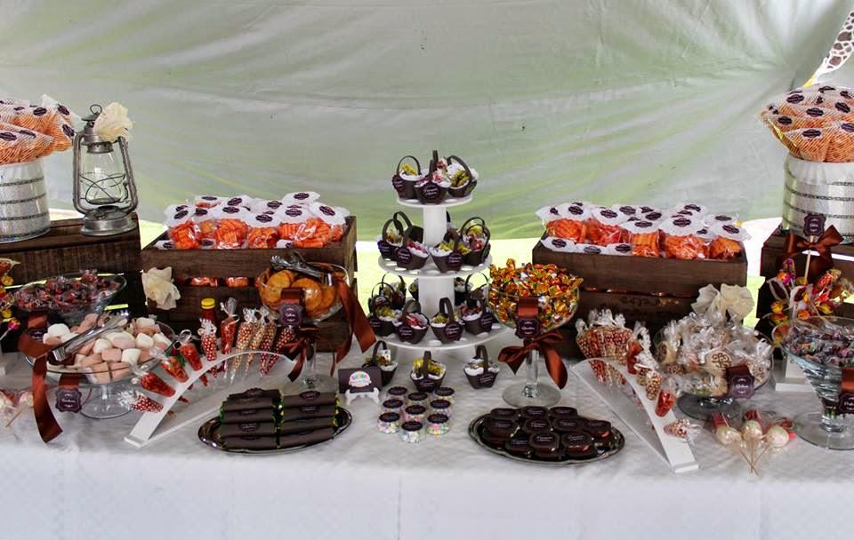 barra de dulces boda vintage