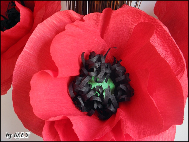 Handmade tutorials creative ideas craft projects giant crepe giant crepe paper poppy flower decoration mightylinksfo