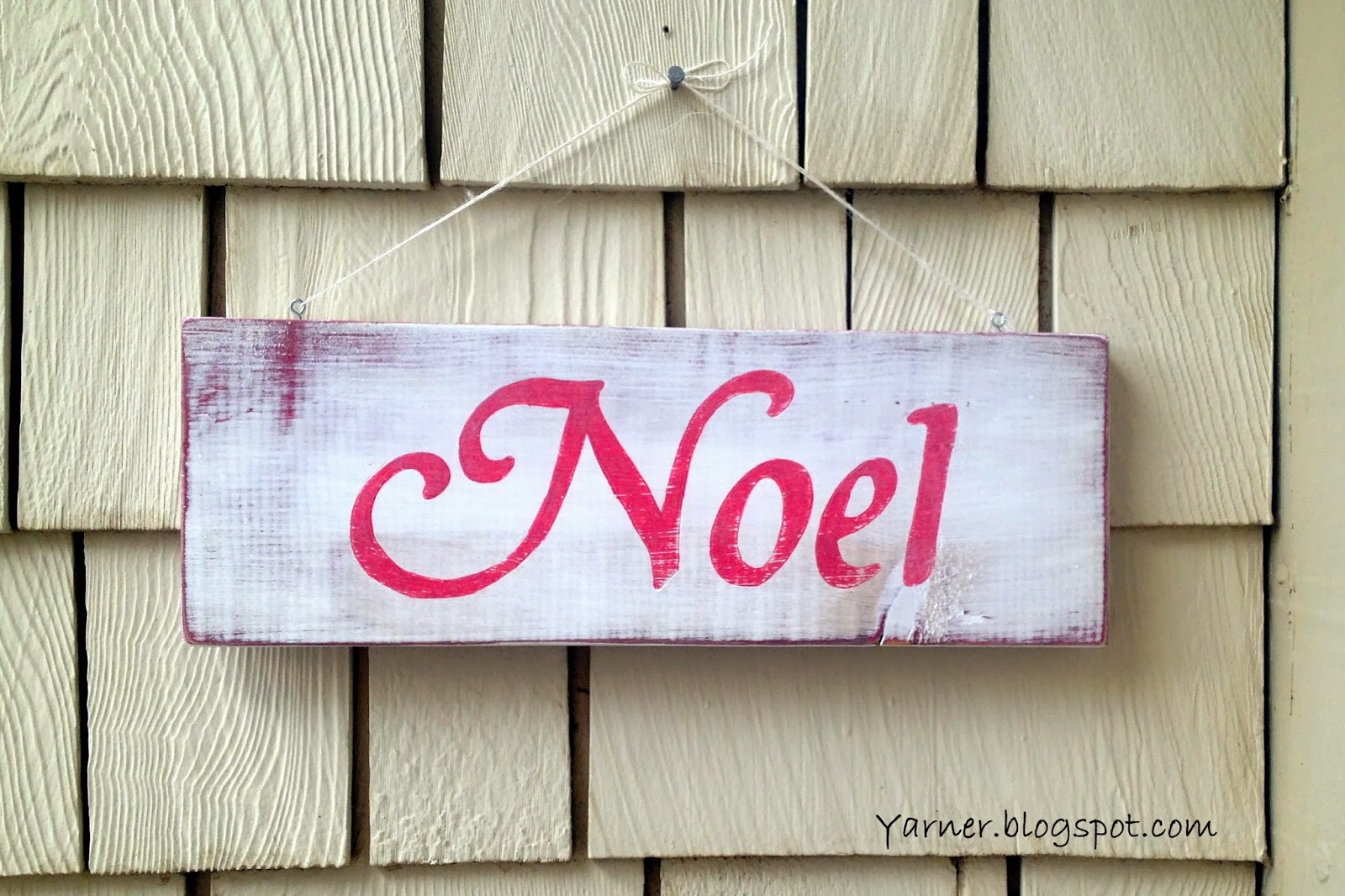 I m a yarner wooden christmas signs