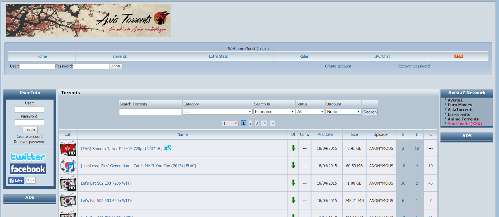 Asian music torrent site