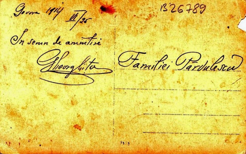 O amintire din Govora anului 1914