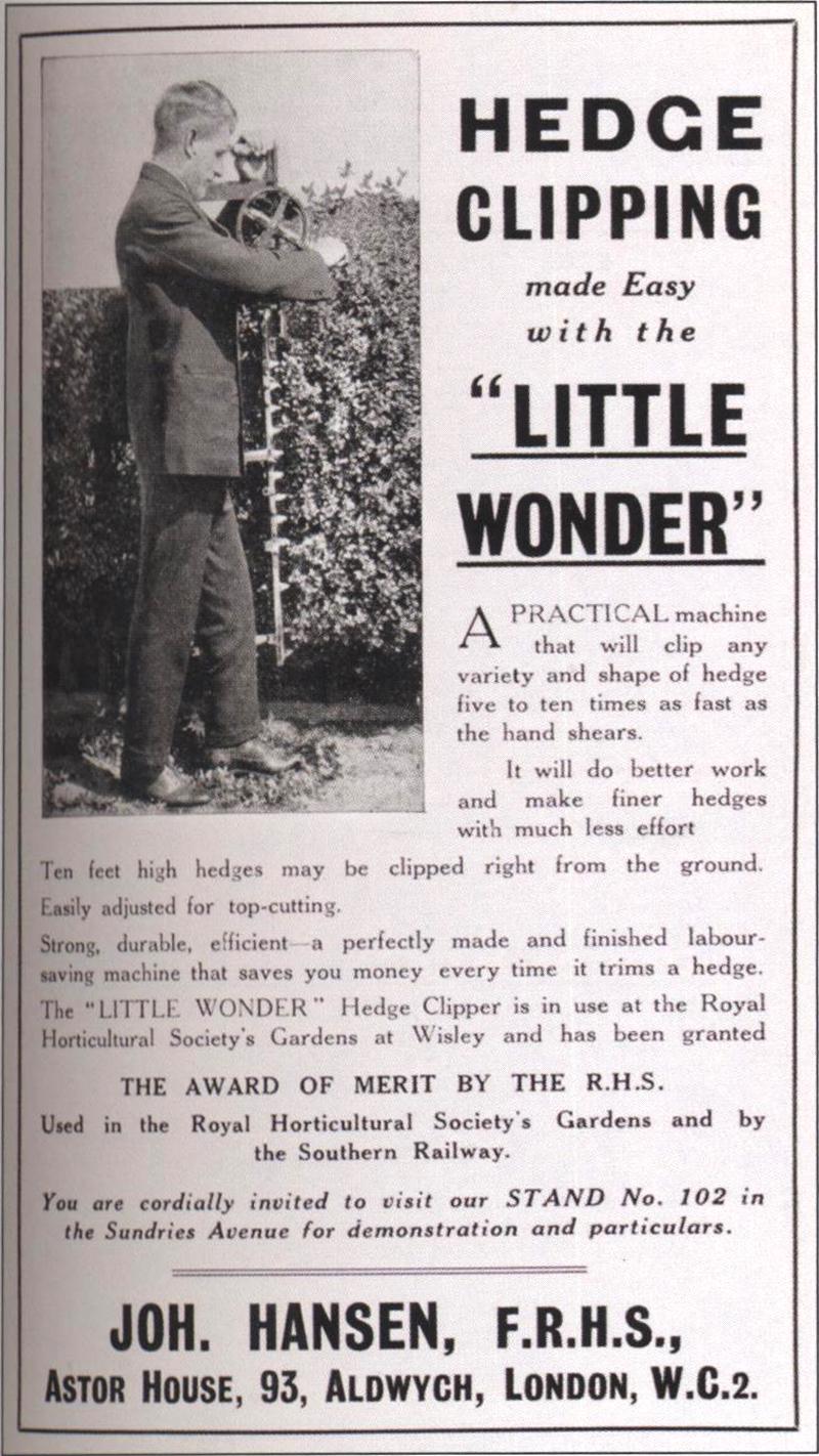 little wonder hedge trimmer manual