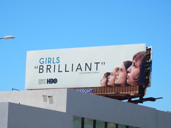 Girls Brilliant 2015 Emmy billboard
