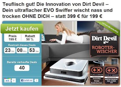 Wischroboter Dirt Devil Evo M 678 bei DailyDeal für 199 Euro