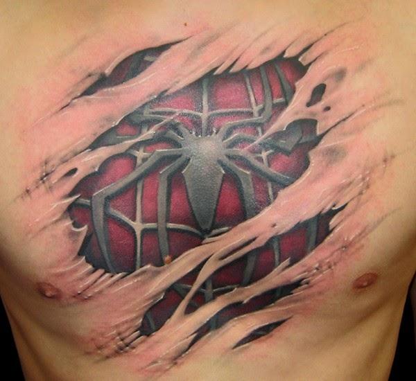 Weird tattoos for Badass angel tattoos