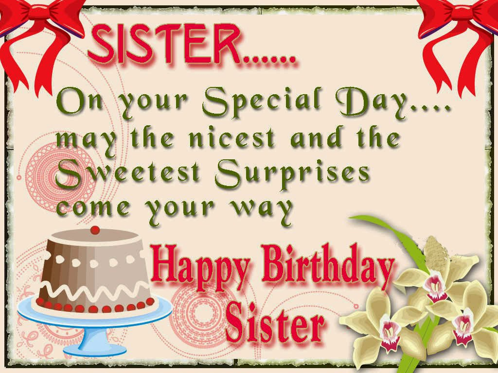 All wishes message Greeting card and Tex Message Birthday – Birthday Greetings for Sister Message