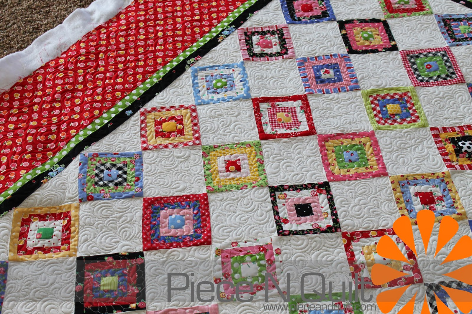 Log Cabin Quilts ~ Piece n quilt itsy bitsy log cabin