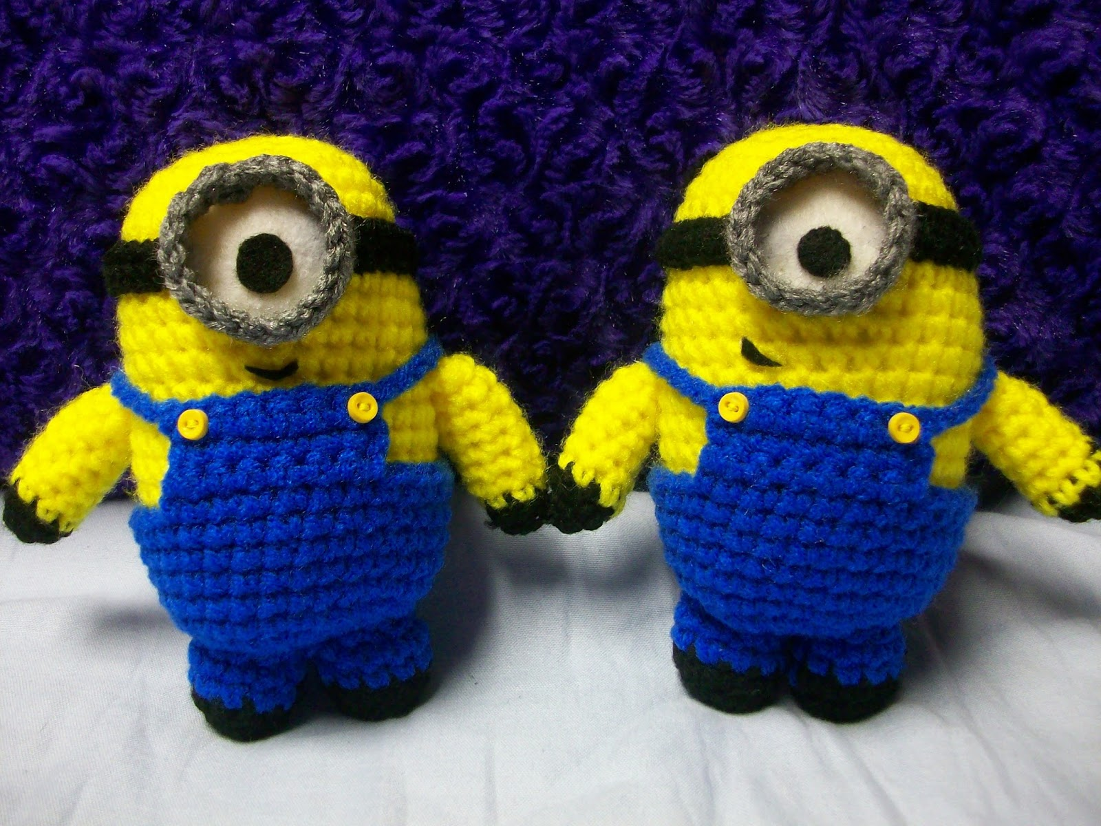 Free Crochet Batman Minion Pattern : My Crocheted World: Despicable Me Minion Crochet Doll